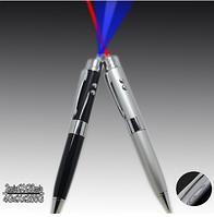 Флешка USB 16 Гб Ручка указка серебристая с лазером. Бизнес подарок
