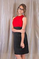 Элегантное модное женское летнее платье с цветком