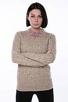 Женский вязаный свитер теплый
