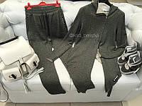 Спортивный костюм асимметричный серый
