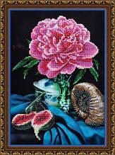 Набор для вышивания бисером Натюрморт с пионом