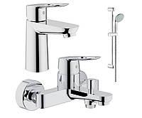 Комплект смесителей для ванной Grohe Bau Loop 123214