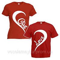 """Парная футболка """"One love"""""""