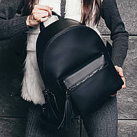 Черный матовый рюкзак - М, фото 1