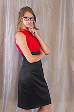 Модне елегантне жіноче літнє плаття з квіткою, фото 2