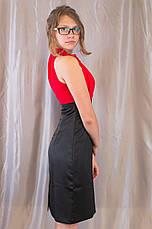 Модне елегантне жіноче літнє плаття з квіткою, фото 3