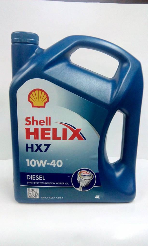 Масло моторное 10W-40 дизель , 4 л SHELL HELIX