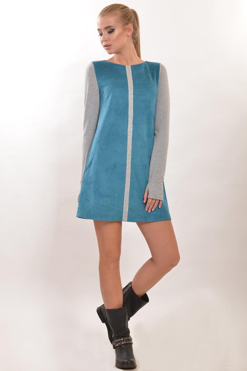 """Стильное женское платье """"Замш"""" в разных цветах"""