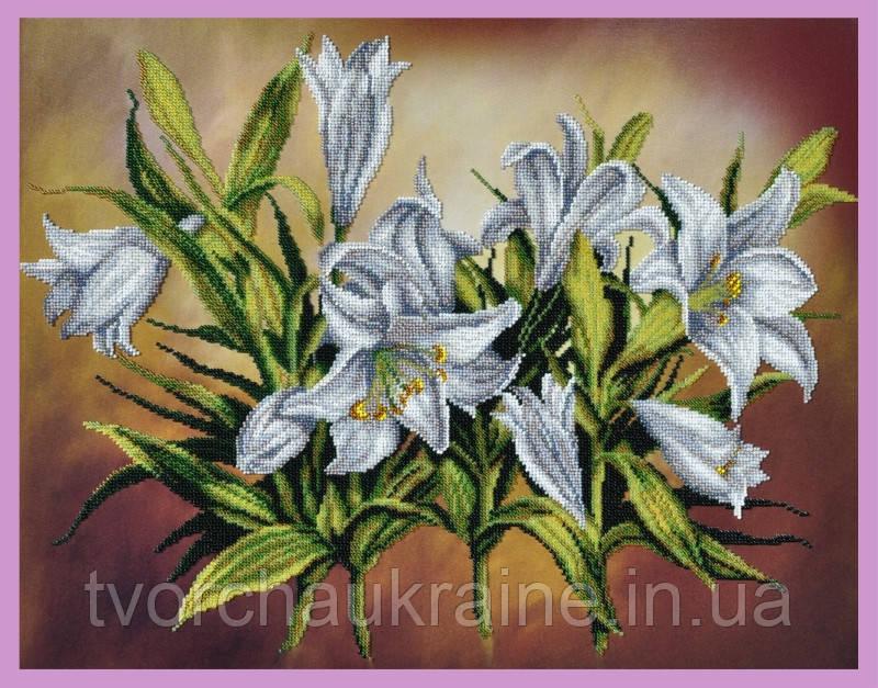 Набор для вышивания бисером Белые лилии