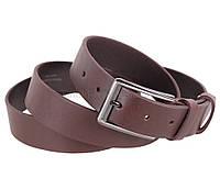 Кожаный ремень ремень коричневого цвета для мужчин Dovhani
