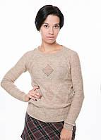 Модный вязаный джемпер, свитер