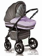 Универсальная коляска 2 в 1 Trans Baby Mars 39/130 (с.серый+сирень)