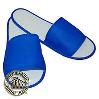 """Одноразовые тапочки """"Сауна 3"""" (синие)"""