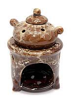 """Аромалампа керамическа """"горшок на печи"""" коричневая (12Х8Х8 СМ)"""
