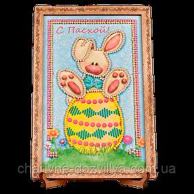 """Набор-открытка для вышивки бисером с рамкой """"С Пасхой-2"""""""