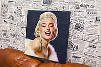 "Фото на холсте ""Мерилин Монро"". 30x30 см."