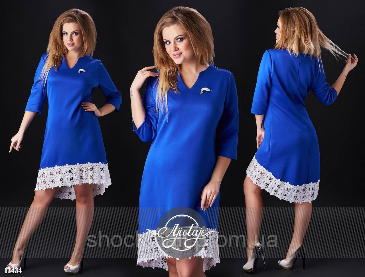 Фото синее платье с белым кружевом фото