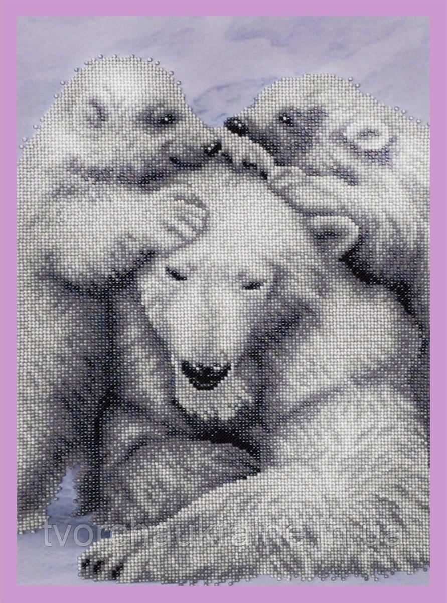 Набор для вышивания бисером С мамой теплее