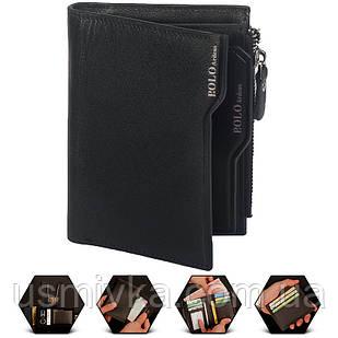 Кошелёк мужской Polo бумажник черный 54194