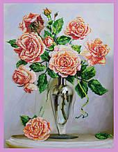 Набор для вышивания бисером Розы на мраморном столике