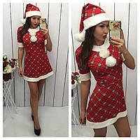 Новогоднее платье с шапочкой 146 КОП