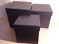 Коробка- куб подарочная черный