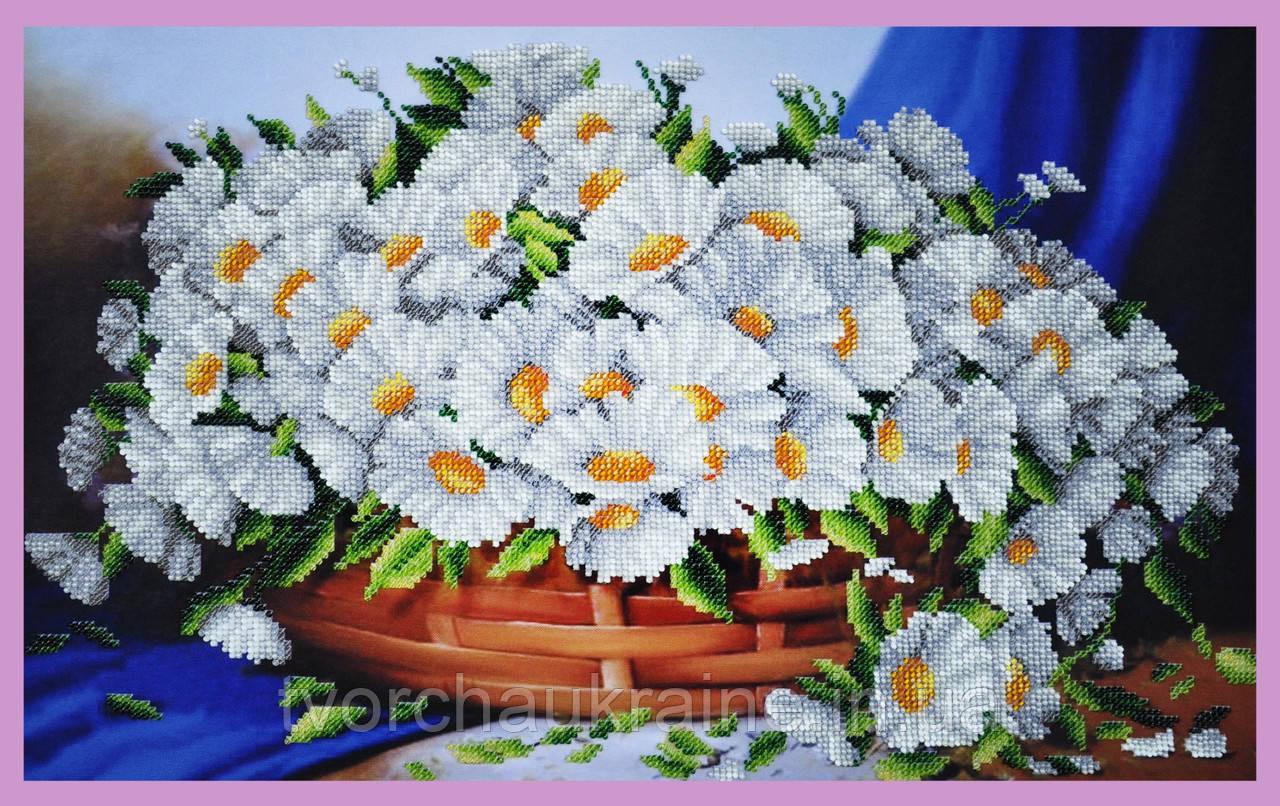 Набор для вышивания бисером Ромашковая корзина