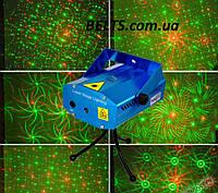 Мини лазер для дискотек 6в1, лазерный проектор Mini Laser