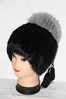 Женская зимняя шапка-кубанка из меха кролика