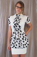 Стильное женское нарядное шифоновое платье-туника