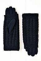 Красивые зимние женские перчатки с вязкой