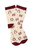 Новогодние детские носки с праздничным рисунком