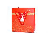 Подарочные пакеты Красные упаковка 12шт 32х26х12 см