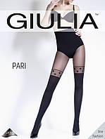 Фантазийные колготки с имитацией чулок с рисунком в крупный горох TM Giulia