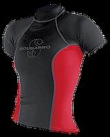 Мужская лайкровая футболка для плавания Scubapro T-Flex; красно-чёрная