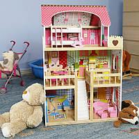 Домик деревянный для кукол + мебель ECOTOYS. Без предоплаты!