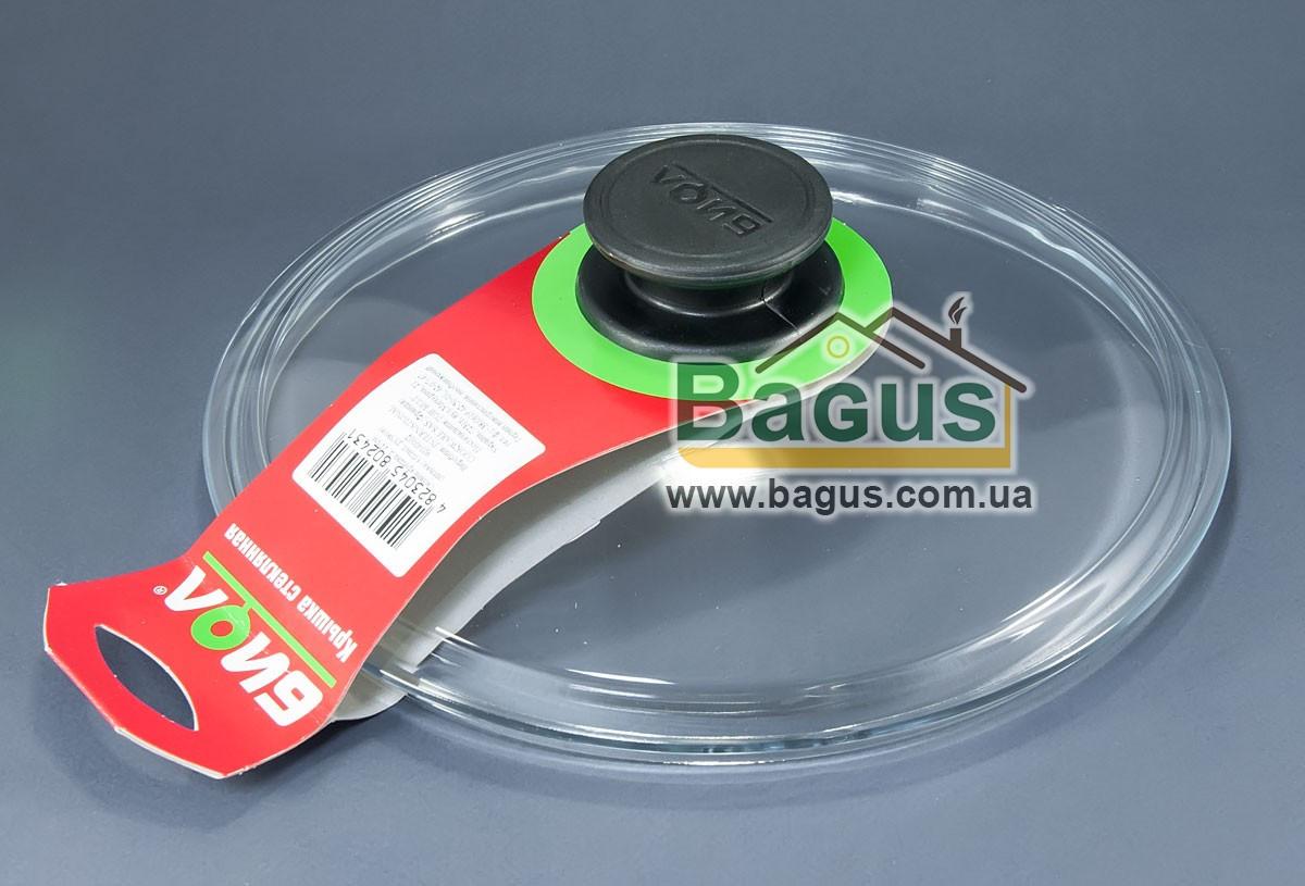 Крышка стеклянная 22см для посуды (низкая) Биол (НК220)