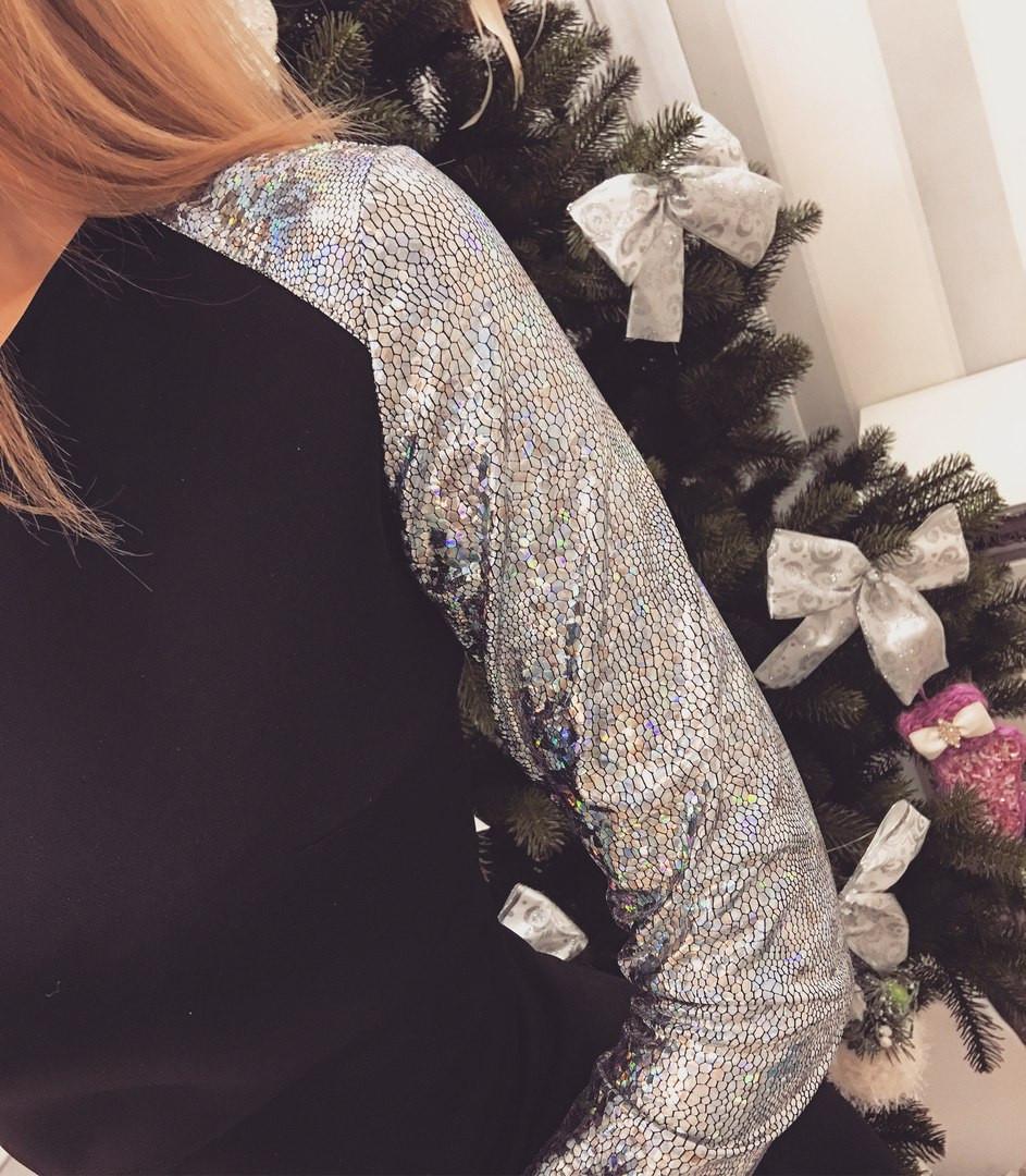 Платье с рукавом голограмма