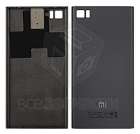 Задняя крышка батареи для мобильного телефона Xiaomi Mi3, черная