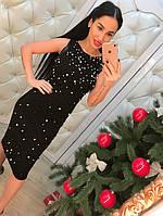 Женское стильное платье с жемчугом , фото 1