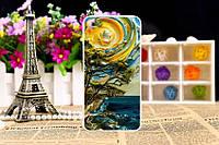 Яркий силиконовый чехол бампер для Meizu U10 с картинкой Картина маслом