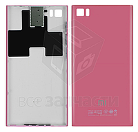 Задняя крышка батареи для мобильного телефона Xiaomi Mi3, розовая