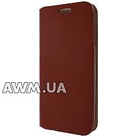 Чехол книжка для Samsung Galaxy S4 коричневый