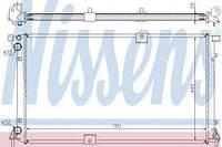 Радиатор охлаждения двигателя на Рено Трафик 03-> 2.5dCi (135 л. с. ) — Nissens (Дания) 63818A