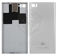 Задняя крышка батареи для мобильного телефона Xiaomi Mi3, серебристая