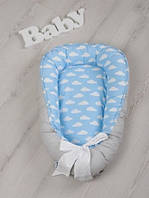 Двухсторонний позиционер Babynest Ясное небо для малыша с рождения до 9-12 месяцев ТМ MagBaby