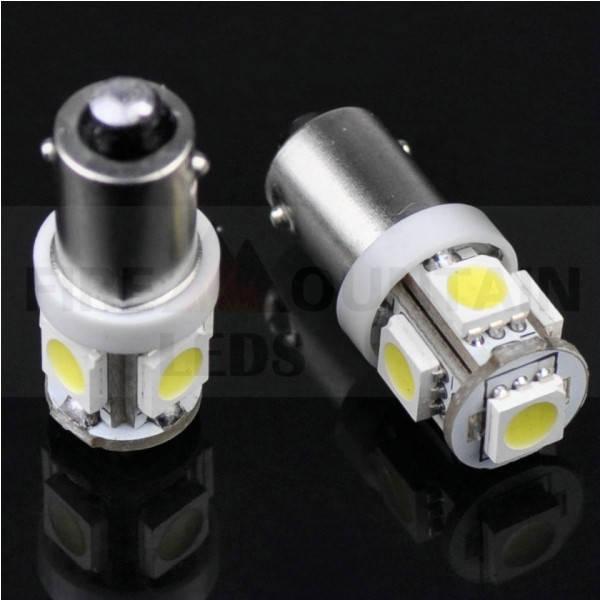 Светодиодные лампы габариты, повороты, подсветка BA9S 5 LED