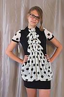 Красивое женское нарядное летнее шифоновое платье-туника
