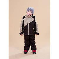 Куртка весенне-осенняя Be easy на мальчика 3-9 лет (Размер 92-134, холлофайбер) ТМ Be easy Коричнево-бежевый