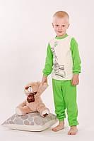 Пижама детская унисекс для ребенка 2-7 лет ТМ Модный карапуз Зеленый